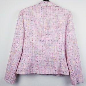 Tribal Jackets & Coats - Tribal pink frayed edge tweed blazer